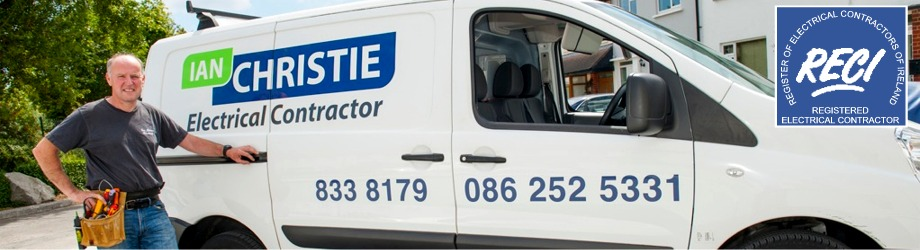 Ian Christie Electrical Contractor by van in Clontarf, Dublin, Ireland